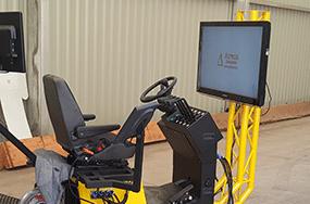 Simulateur engins chariot élévateur